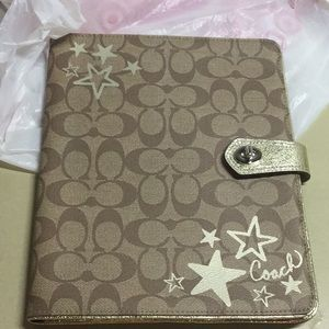COACH IPAD READER SLEEVE TABLET book cover CASE